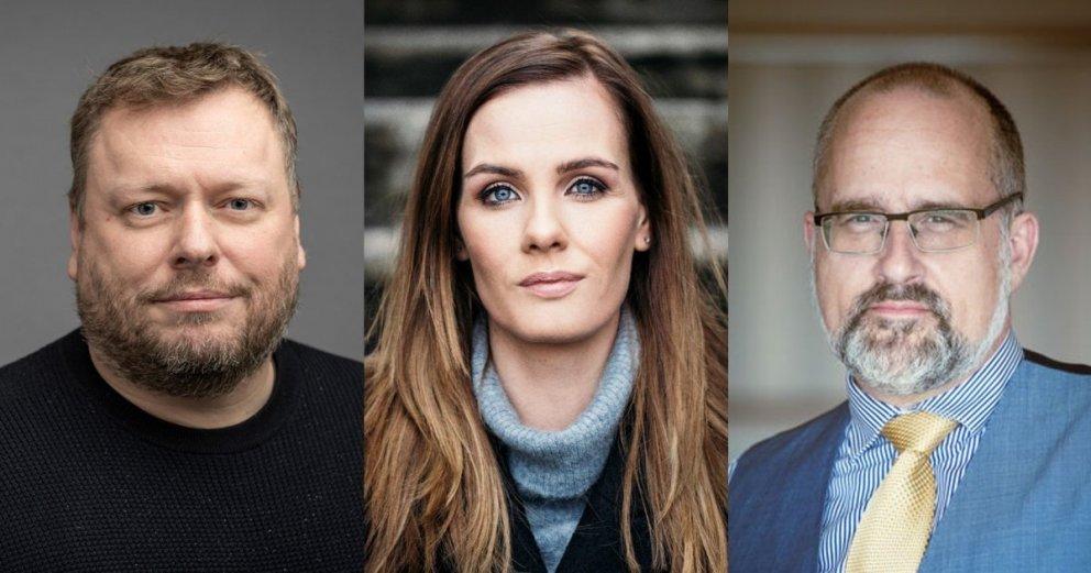 Ragnar Þór Pétursson, formaður KÍ (t.v.), Sonja Ýr Þorbergsdóttir, formaður BSRB og Friðrik Jónsson,…
