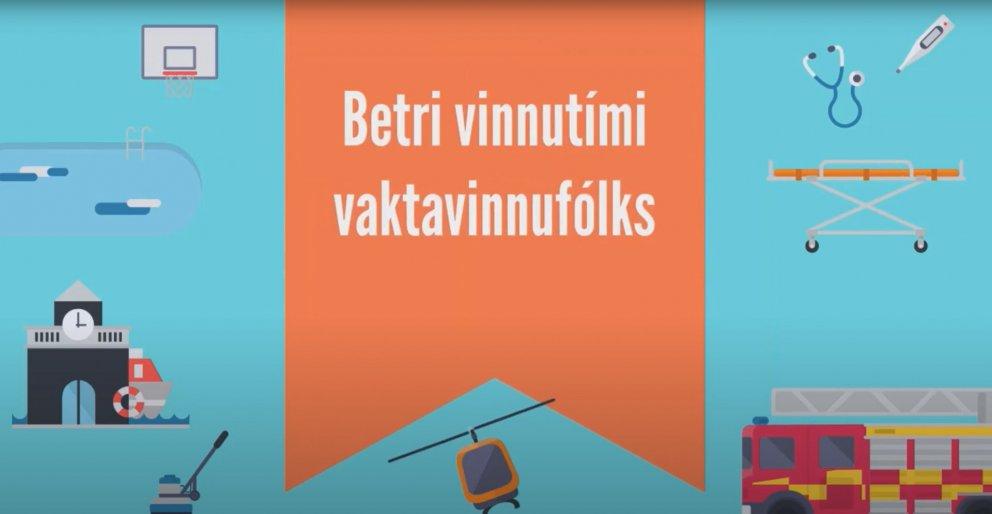 Mikið af kynningarefni um styttingu vinnuvikunnar má finna á vefnum betrivinnutimi.is.